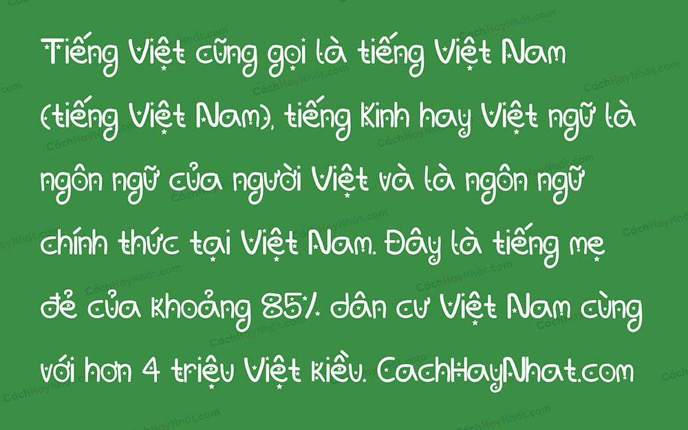 Font SVN Baby You're A Star Việt Hóa