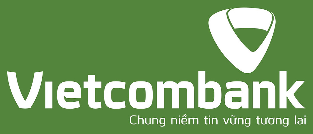 Logo Vietcombank màu trắng