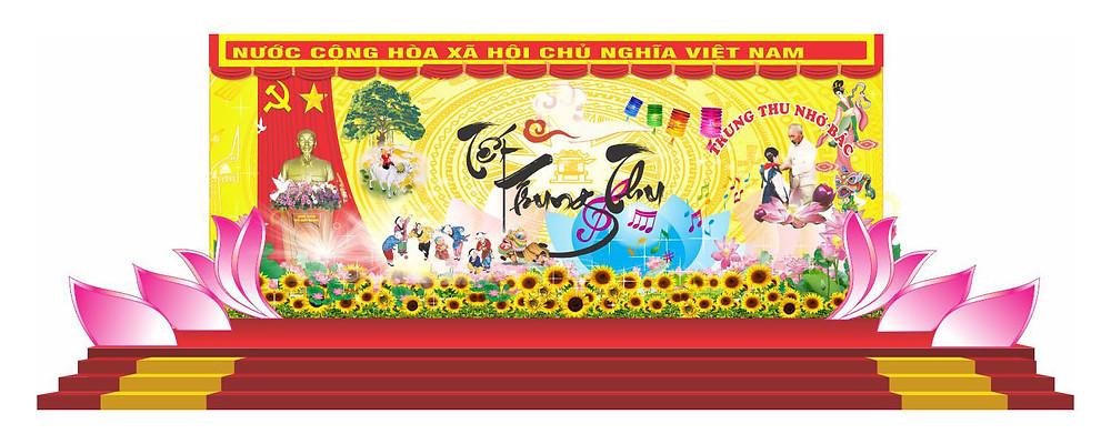 Backdrop Sân Khấu Trung Thu Vector Corel CDR Part17