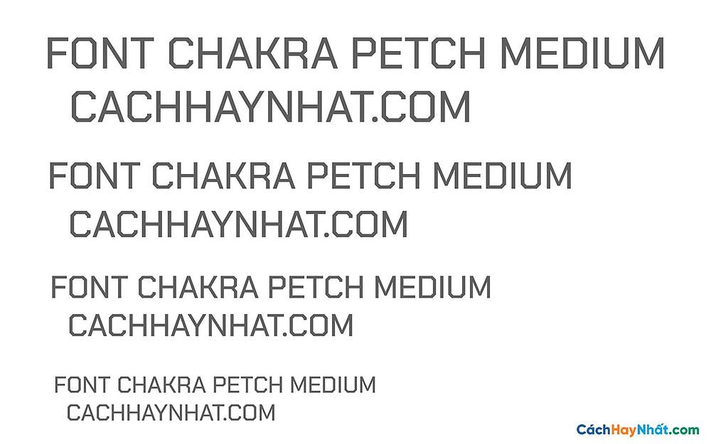 Font Chakra petch Medium