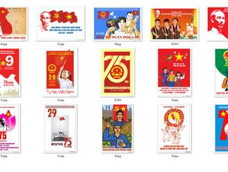 Tranh Cổ Động 75 Năm Cách Mạng Tháng Tám và Quốc Khánh 2-9 Chất Lượng Cao Part04