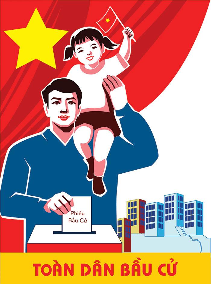 Pano Poster Cổ Động Bầu Cử