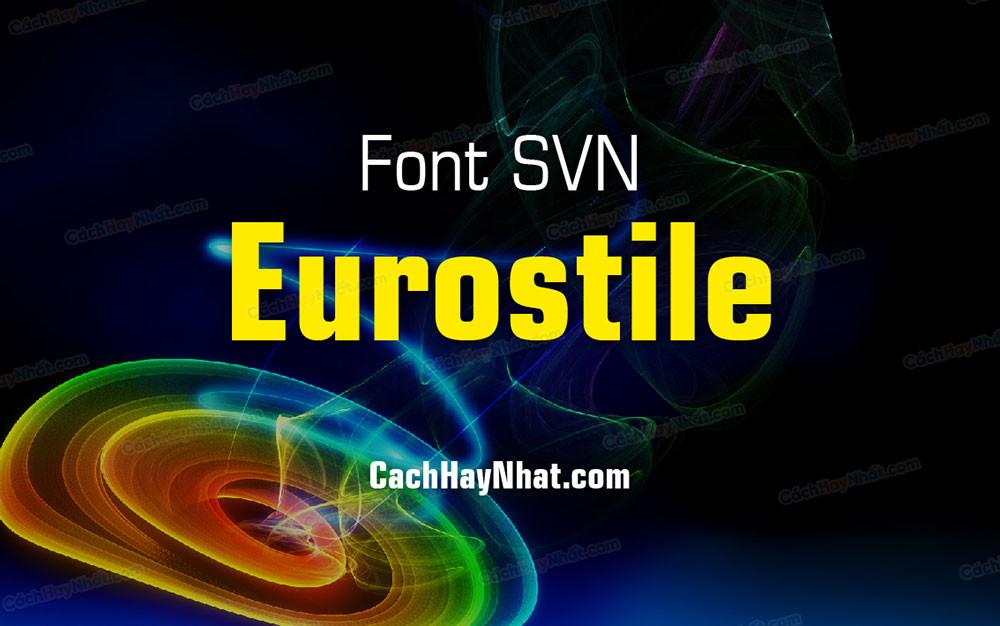 ảnh bìa bộ font SFU Eurostile Việt hóa