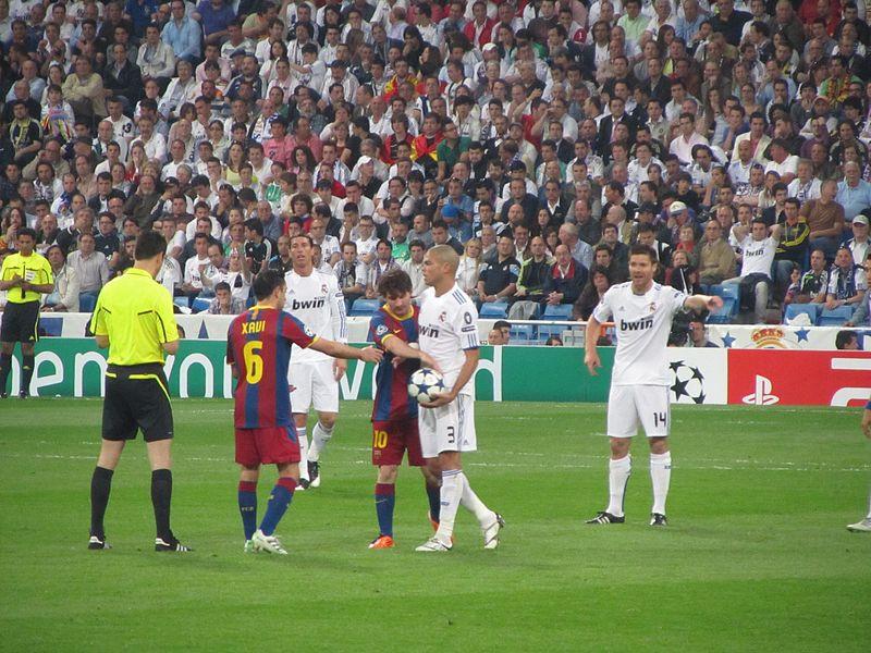 Messi trong trận trận bán kết Champions League gặp Real Madrid.