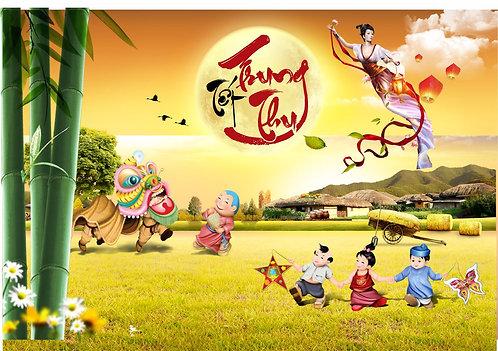 Tết Trung Thu Mid-Autumn Festival Vector Corel CDR 63