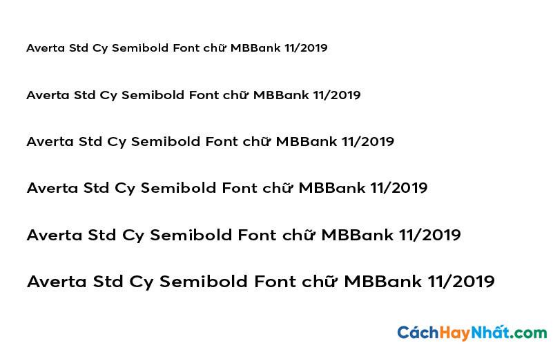 Averta Std Cy Semibold Font - MBBank