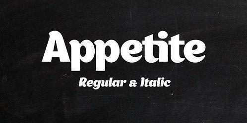 Font Chữ Appetite Tuyệt Đẹp - Beautiful Appetite Font