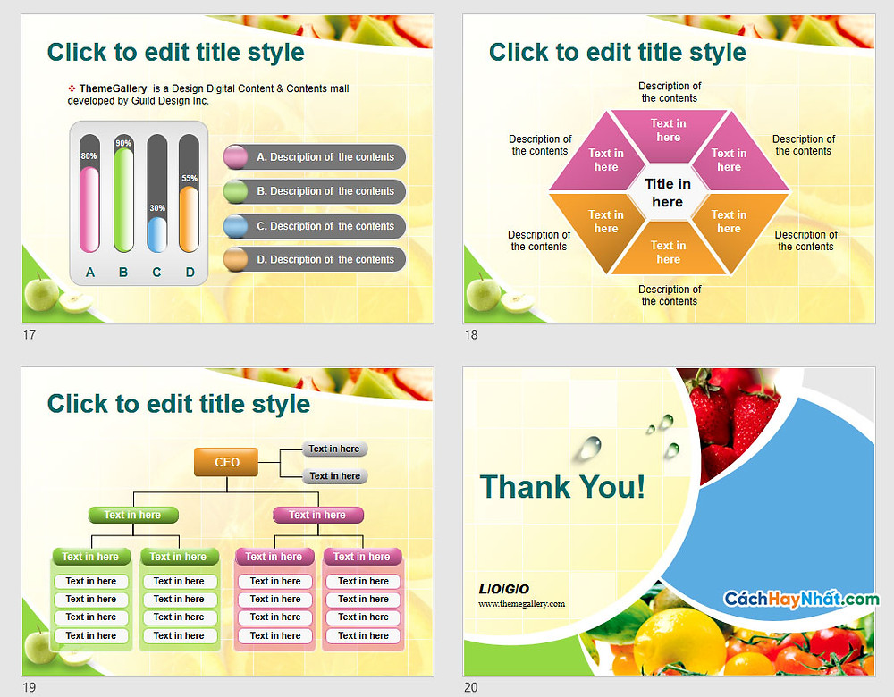 PowerPoint Template 577TGp_fruit_light