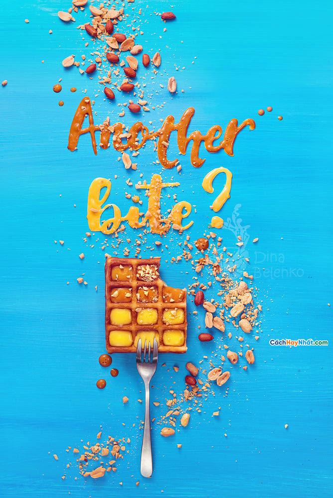 Thực phẩm nghệ thuật quảng cáo ý tưởng ảnh chế tác một miếng khác của dina