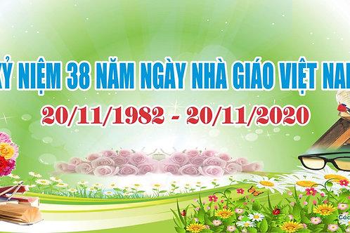 Phông Nền Background Ngày Nhà Giáo Việt Nam 20/11 Vector Corel CDR 08