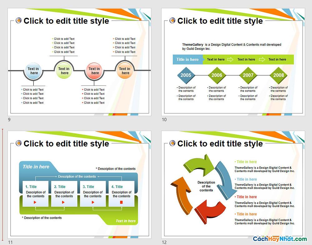PowerPoint Template 576TGp_report_light