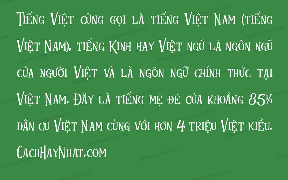 đoạn văn mô tả font SVN Mukadua Việt hóa