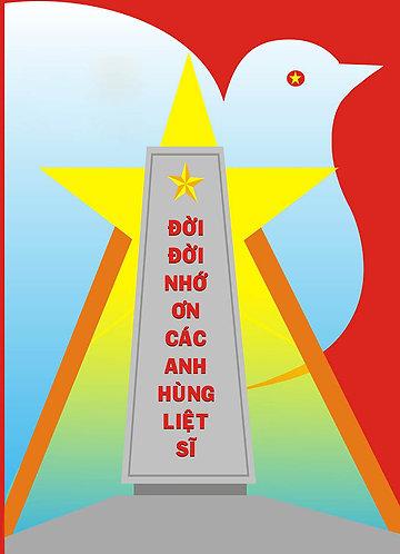 Tranh Cổ Động Kỷ Niệm Ngày Thương Binh Liệt Sĩ 27/7 File Chất Lượng Cao