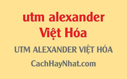 Free Font Utm Alexander Việt Hóa