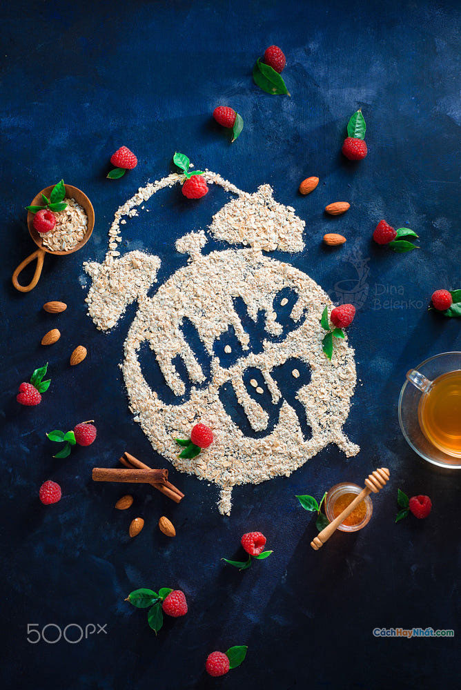 Thức ăn nghệ thuật quảng cáo ý tưởng chế tác ảnh thức dậy bởi dina belenko