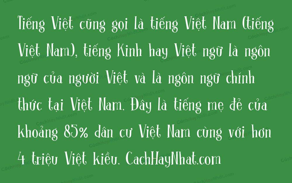 Ảnh demo Font SVN DK Clochard Việt Hóa