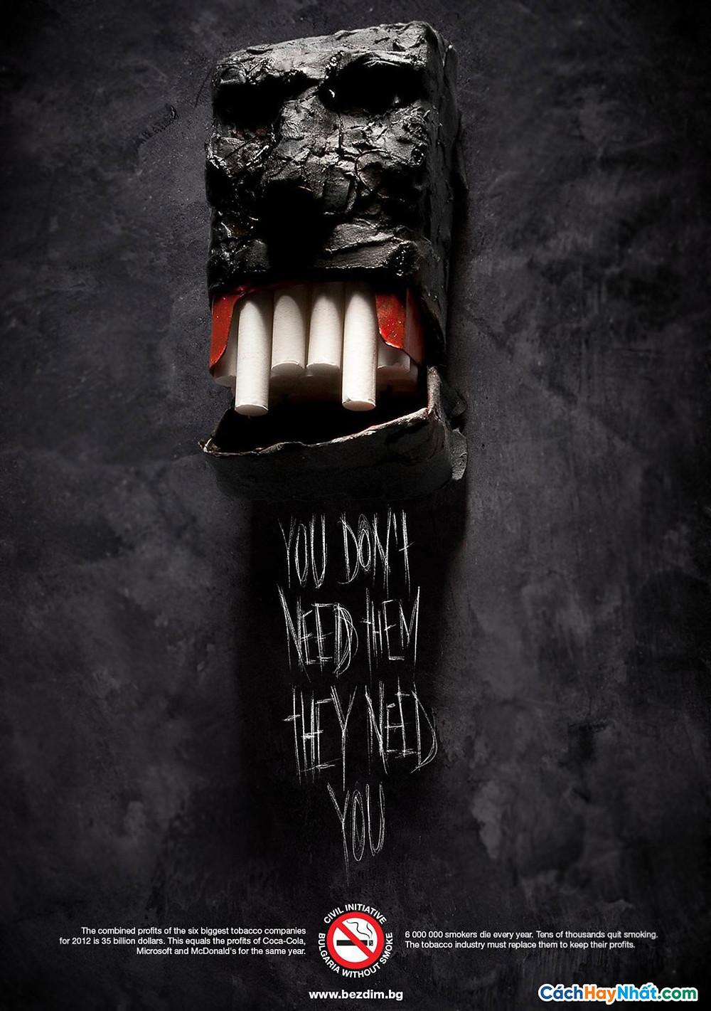 Quảng cáo chống hút thuốc của bezdim