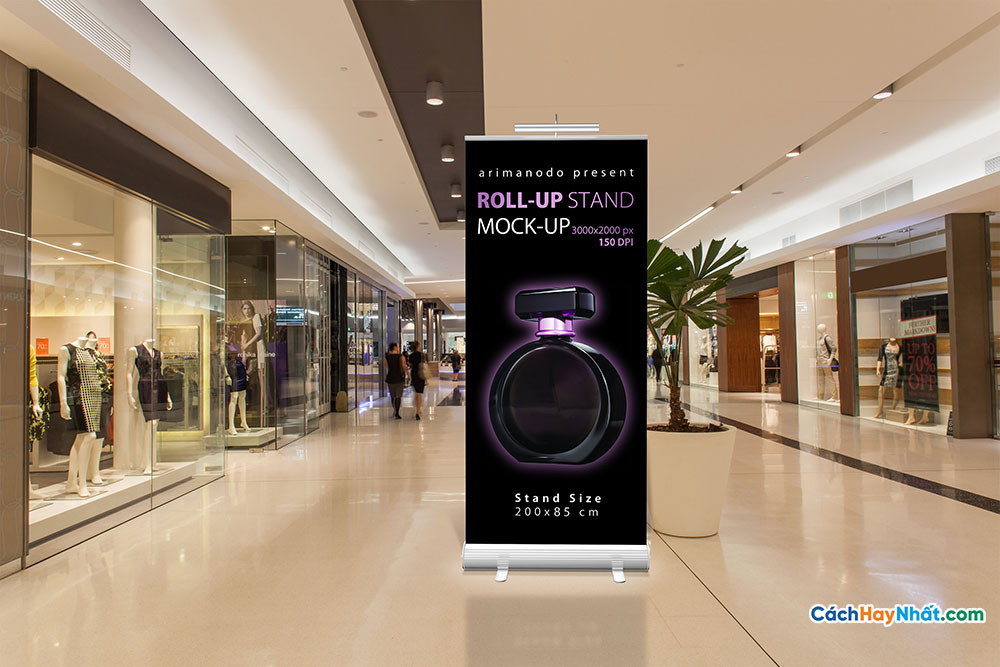 10 File PSD Standee Mockup - 10 Roll-up stand Mock-up