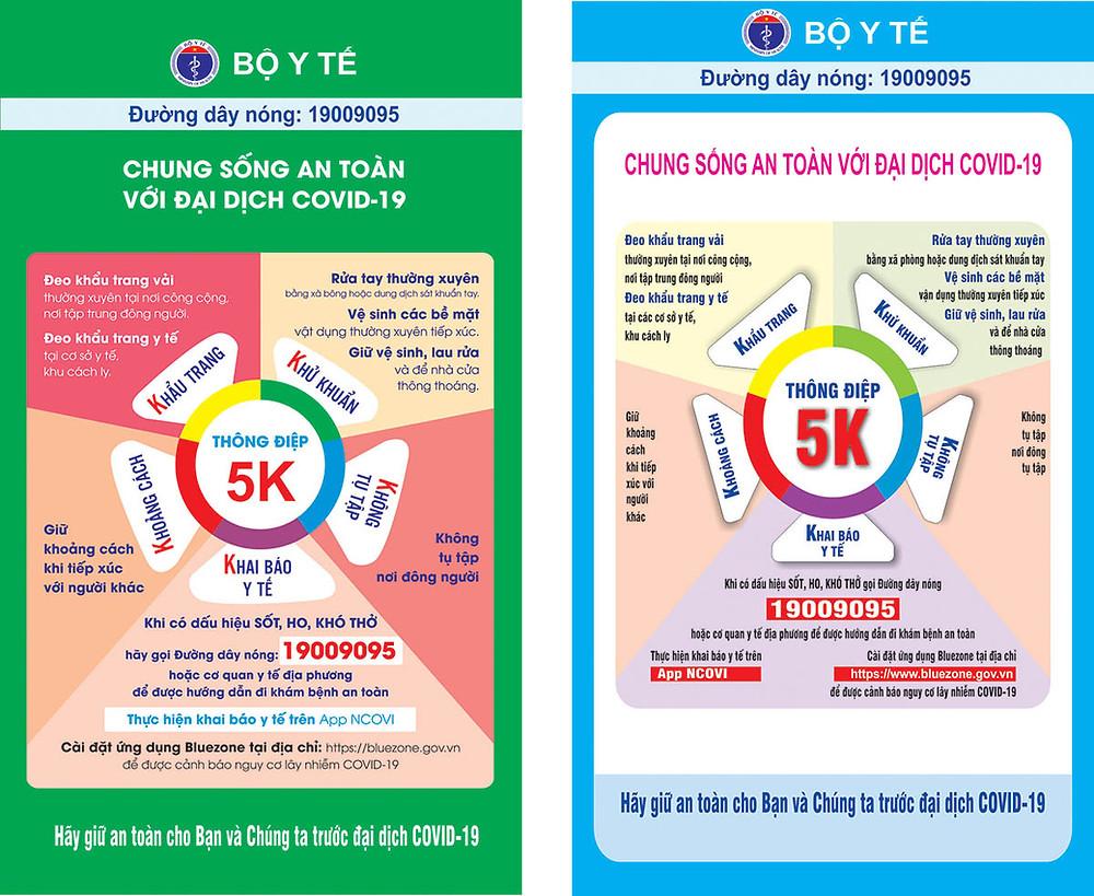 Tờ Rơi Poster Thông Điệp 5K 2 Màu File Vector Corel CDR