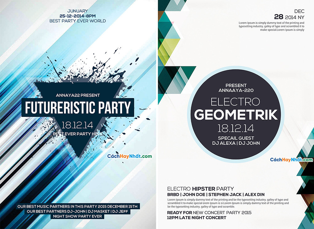 Download File Party Flyers PSD Free 04