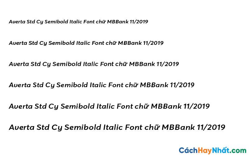 Averta Std Cy Semibold Italic Font - MBBank