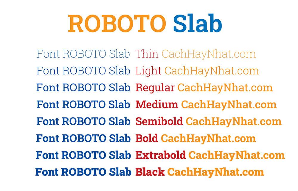 Font Roboto Slab