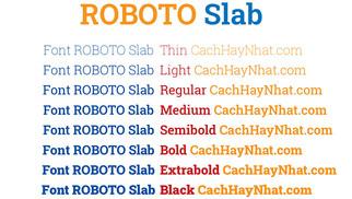 Download Font Roboto Slab Việt Hóa
