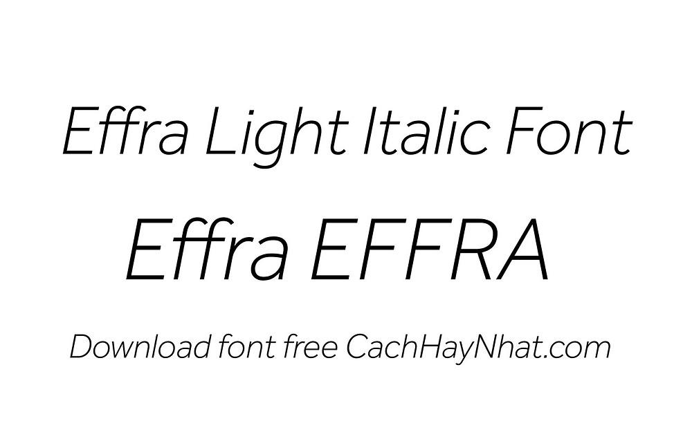 font effra light italic