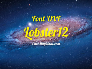 Download Font UVF Lobster12 Việt Hóa