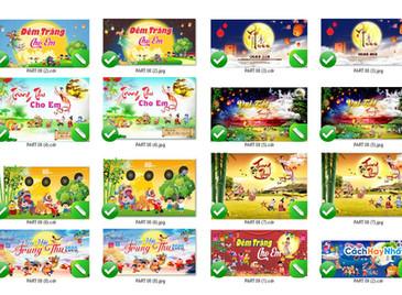 Download Free Mẫu Phông Tết Trung Thu Vector Corel CDR Part08
