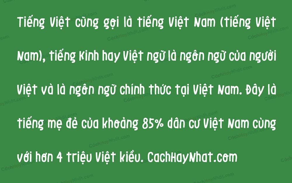 đoạn văn bản font SVN LeOsler New Việt hóa