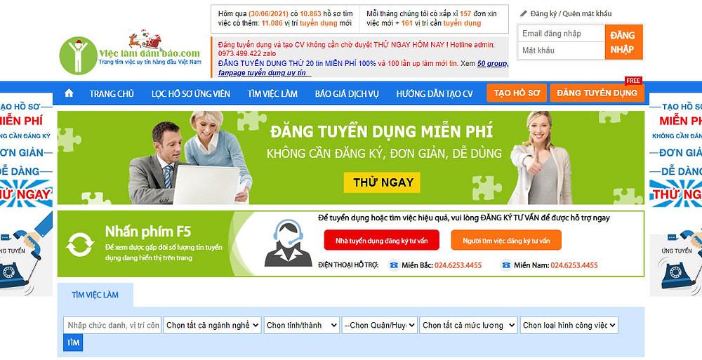 Top 10 Website Đăng Tin Tuyển Dụng Miễn Phí Tại Việt Nam
