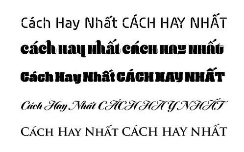 32 Font Chữ FS tiếng Việt tuyệt đẹp - 32 Beautiful Vietnamese FS Font
