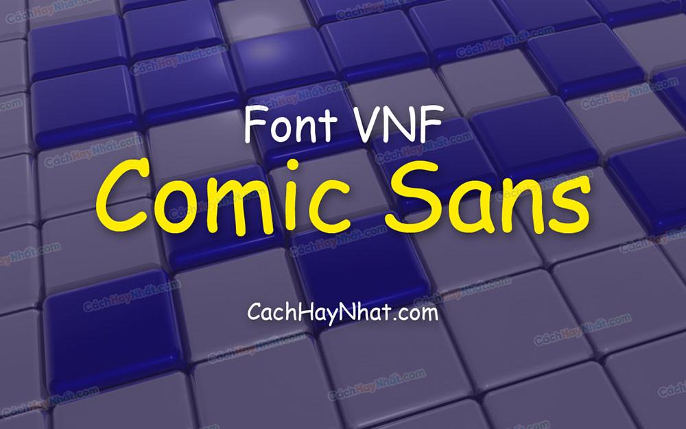 ảnh bìa font VNF Comic Sans Việt hóa