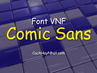 Download font VNF Comic Sans Việt hóa