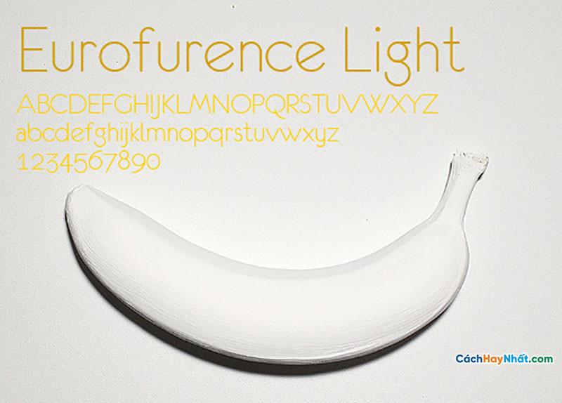 Download Free Font Eurofurence Light