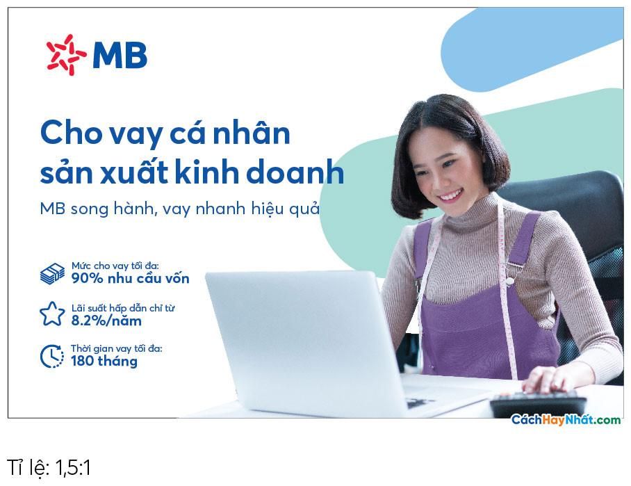 Pano Quảng Cáo Tấm lớn Cho vay Sản xuất Kinh doanh MBBank file Vector tỉ lệ 1,5-1