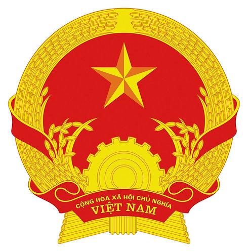 Quốc Huy Việt Nam Chuẩn Bản Gốc - Vietnamese National Emblem Standard Original