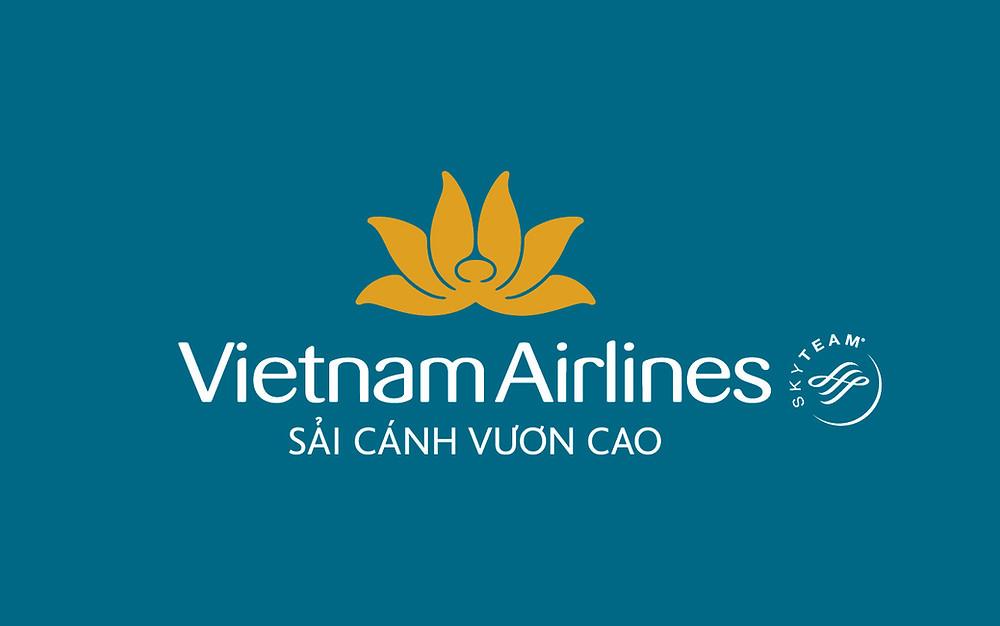 Logo Vietnam Airlines - Bố cục dọc - Âm bản
