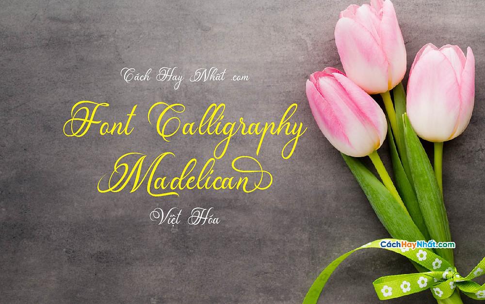 Font Chữ Madelican Calligraphy Việt Hóa