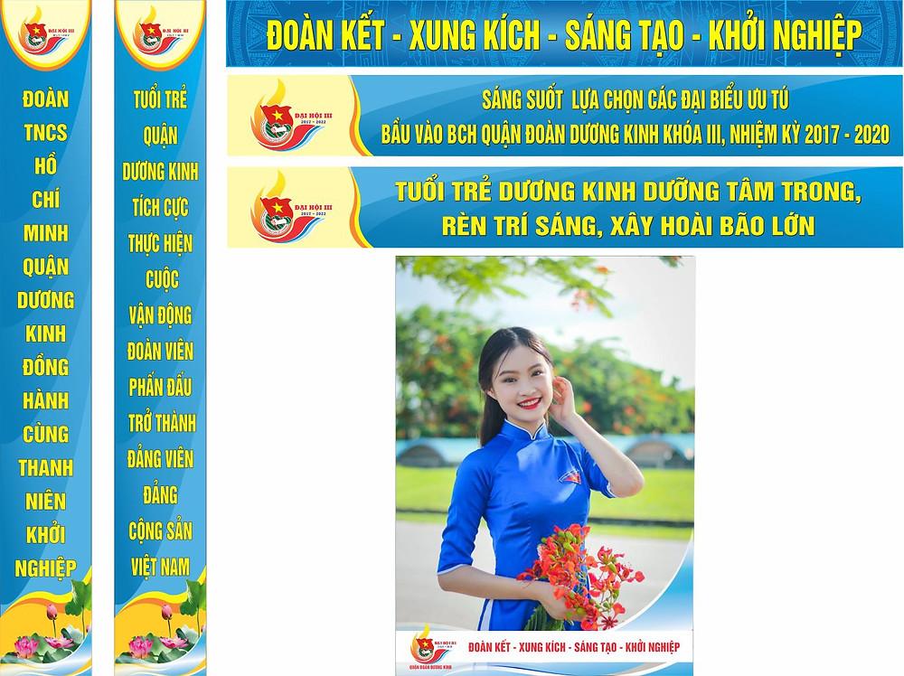 Băng Rôn Banner Poster Đoàn Thanh Niên Vector Corel CDR