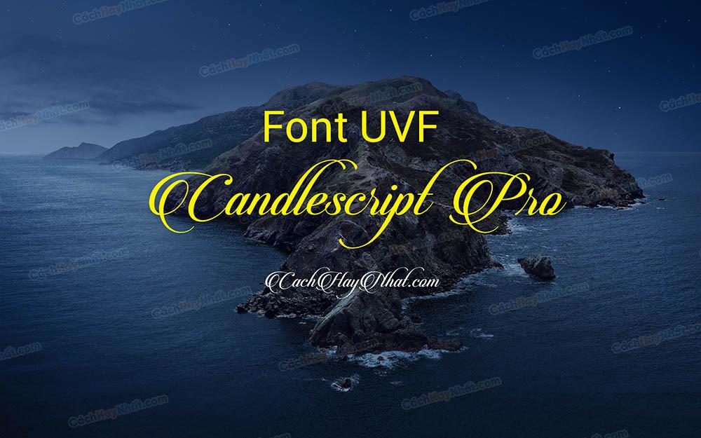 Font UVF Candlescript Pro Việt hóa