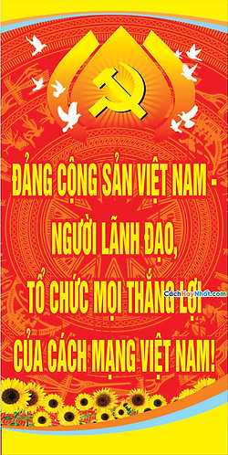 Vector Pano Đại Hội Đảng - Pano vector party congress