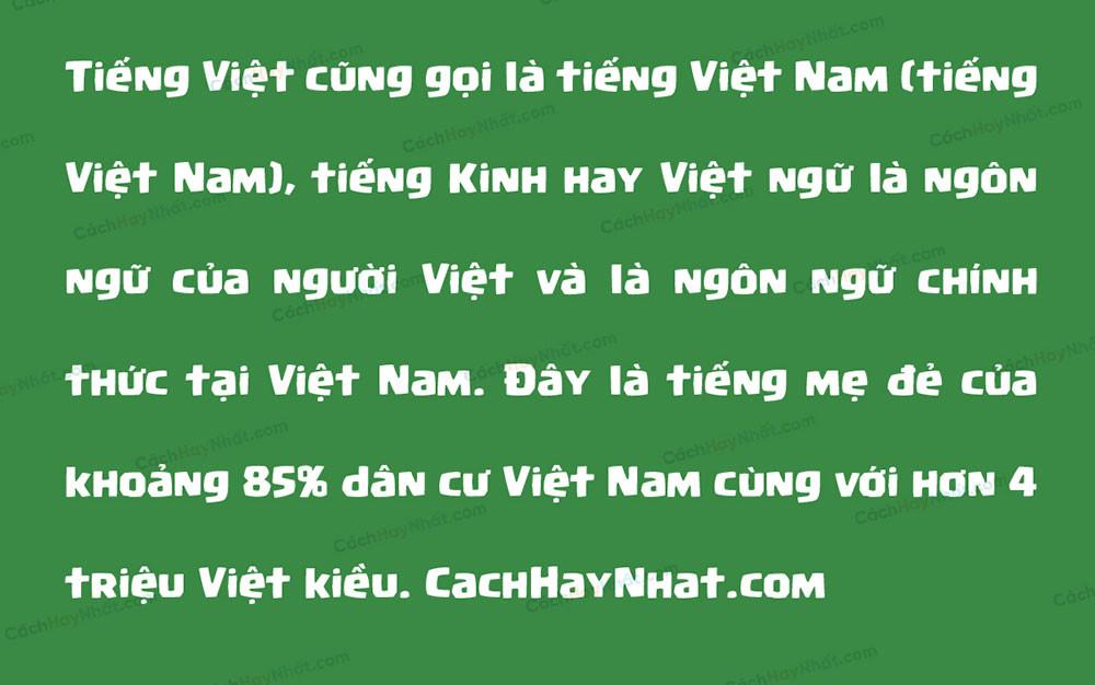 đoạn văn font SVN Supercell Magic Việt hóa