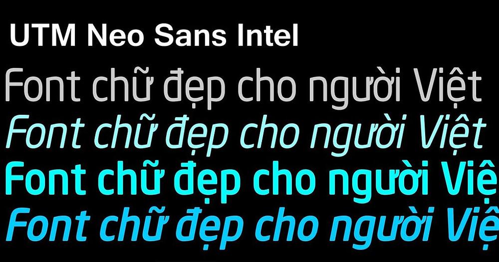 font Utm Neo Sans Intel Việt Hóa