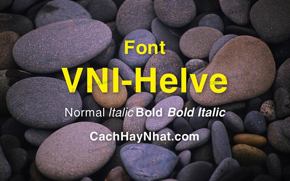 Ảnh bìa mô tả font VNI Helve