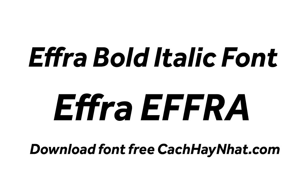 font effra bold italic