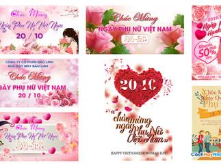 Tải Background Phông Nền Ngày Phụ Nữ Việt Nam 20/10 Photoshop PSD Part01
