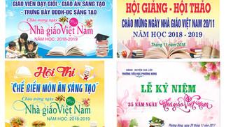 Tải Background Phông Nền Ngày Nhà Giáo Việt Nam 20/11 Vector Corel CDR Part03