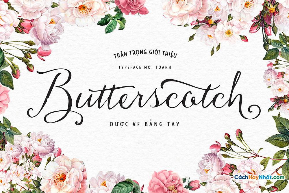 Chia Sẻ Font Chữ iCiel Butterscotch 2015 Việt hóa Tuyệt Đẹp Dùng Cho Thiết Kế